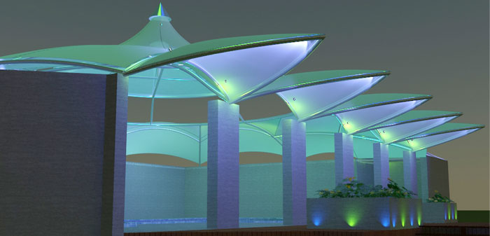 Swimming Pool Shades Structures in Pakistan