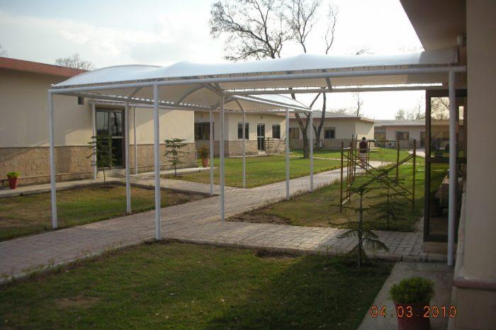 Tensile Fabric Walkway Shades ERRA Headquarters ISlamabad