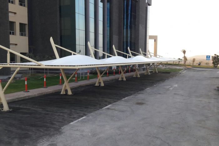 Bahria Karachi car parking shade
